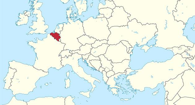 صورة خريطة بلجيكا